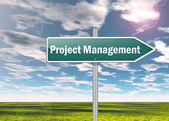 Signpost Project Management — Stock Photo