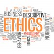 Stock Photo: Word Cloud Ethics
