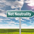 Stock Photo: Signpost Net Neutrality