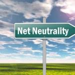Signpost Net Neutrality — Stock Photo