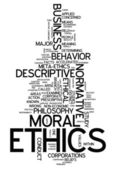 Word Cloud Ethics — Stock Photo