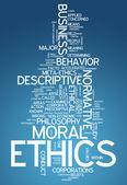 Word Cloud Ethics — Stock Photo