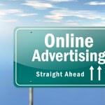 Highway Signpost Online Advertising — Stock Photo