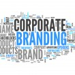 图库照片: Word Cloud Corporate Branding