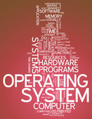 Word Cloud Operating System — Stock Photo
