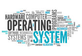 Word Cloud Operating System — Stockfoto