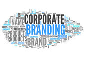 Word Cloud Corporate Branding — Stock Photo