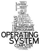 Word Cloud Operating System — Стоковое фото