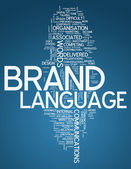 Word Cloud Brand Language — Stock Photo