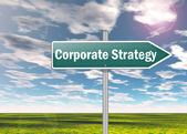 Signpost Corporate Strategy — Stock Photo