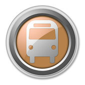 Icon, Button, Pictogram with Bus, Ground Transportation symbol — Stock Photo