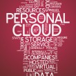 Word Cloud Personal Cloud — Stock Photo