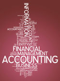 Word Cloud with Accounting related tags — Stock Photo