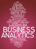 Word Cloud Business Analytics — Foto de Stock