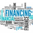 Stock Photo: Word Cloud Financing