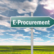 Stock Photo: Signpost E-Procurement