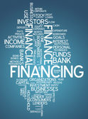 Word Cloud Financing — Stock Photo