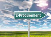 Signpost E-Procurement — Stock Photo