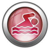 Icon, Button, Pictogram Swimming — Foto de Stock