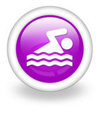 Icon, Button, Pictogram Swimming — Photo