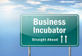 Highway Signpost Business Incubator — Stock Photo