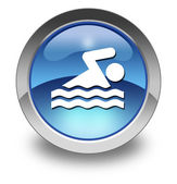 Icon, Button, Pictogram Swimming — ストック写真