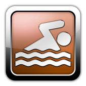 Icon, Button, Pictogram Swimming — Stock Photo