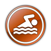 Icon, Button, Pictogram Swimming — Stock fotografie