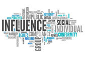 Word Cloud Influence — Stock Photo
