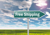 Signpost Free Shipping — Stock Photo