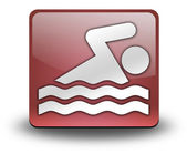 Icon, Button, Pictogram Swimming — Foto Stock