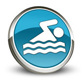 Icon, Button, Pictogram Swimming — Zdjęcie stockowe