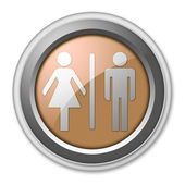 Icon, Button, Pictogram Restrooms — Stock Photo