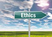Signpost Ethics — Stock Photo
