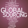 Word Cloud Global Sourcing — Stock Photo #41543311