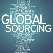 Word Cloud Global Sourcing — Stock Photo #41545323