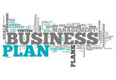 Word Cloud Business Plan — Stock Photo
