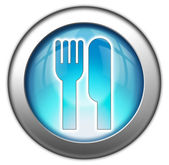 Icon, Button, Pictogram -Eatery, Restaurant- — Stock Photo