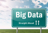 Highway Signpost Big Data — Stock Photo