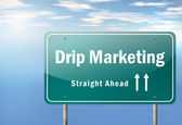 Highway Signpost Drip Marketing — Stockfoto