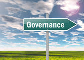 Signpost Governance — Stock Photo