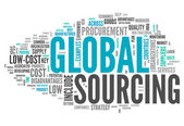 Word Cloud Global Sourcing — Stock Photo