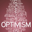 Word Cloud Optimism — Stock fotografie #41666367