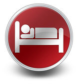 Icon, Button, Pictogram Hotel, Lodging — Stock Photo