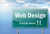 Highway Signpost Web Design — Stock Photo