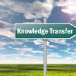 Signpost Knowledge Transfer — Stock Photo