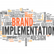 "Stock Photo: Word Cloud ""Brand Implementation"""