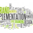 "Word Cloud ""Brand Implementation"" — Stock Photo #41670387"