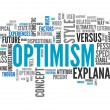 Word Cloud Optimism — Stock fotografie #41670981