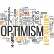 Word Cloud Optimism — Stock fotografie #41671211